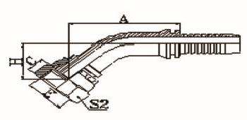 45°公制内螺纹平面