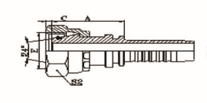 公制内螺纹24°锥带O形圈轻系列ISO 2151-2-DIN 3865