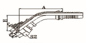 45°公制内螺纹24°锥带O形圈轻系列ISO 12151-2-DIN 3865
