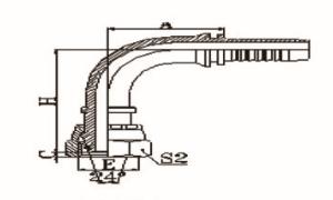 90°公制内螺纹24°锥带O形圈轻系列ISO 12151-2-DIN 3865