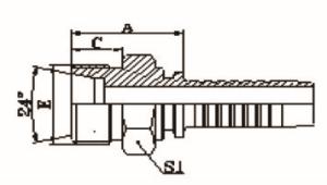 公制外螺纹24°内锥面重系列ISO-84341-DIN3861