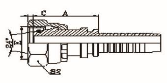 公制内螺纹锥带O形圈重系列ISO 12151-2-DIN 386