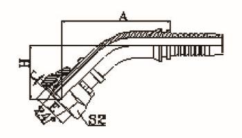 45°公制内螺纹24°锥带O形圈重系列ISO 12151-2-DIN