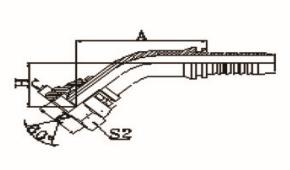 45°英管内螺纹60°外锥面