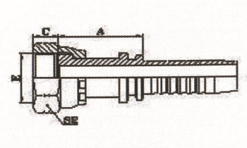 美制ORFS内螺纹平面 ISO 12151-1-SAE J516