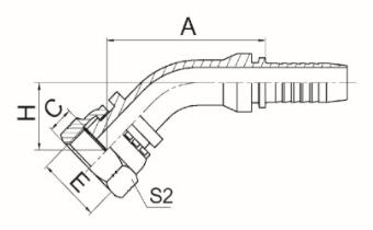 45°美制ORFS内螺纹平面 ISO 12151-1-SAE J516