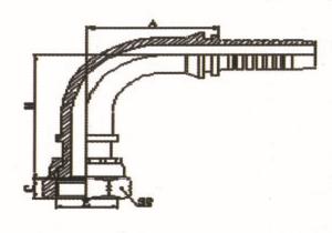 90°ORFS内螺纹平面 ISO 12151-1-SAE J516