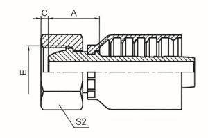 45°公制内螺纹24°球面轻系列