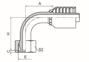 90°公制内螺纹24°球面轻系列