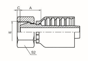 公制内螺纹24°球面重系列