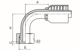 90°公制内螺纹24°球面重系列