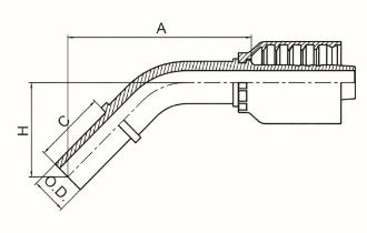 45°公制卡套式直管 DIN 2353