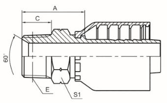 英锥管外螺纹