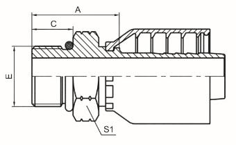 美制SAE外螺纹带O形圈 ISO 11926 SAE J1926
