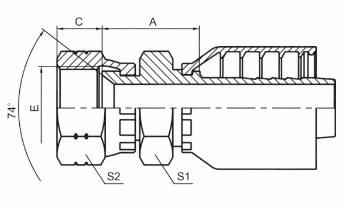 美制JIC内螺纹74°内锥面双六角 SAE J514