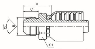 美制SAE外螺纹90°外锥面 SAE J513