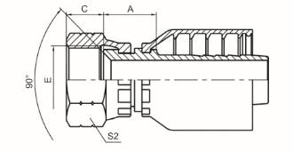 美制SAE内螺纹90°内锥面 SAE J513