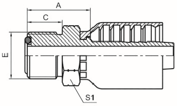 美制ORFS外螺纹平面O形圈密封 ISO 8434-3 SAE J1453