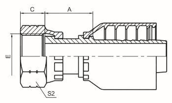 美制ORFS内螺纹平面 ISO 12151-1 SAE J516