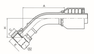 45°美制ORFS内螺纹平面 ISO 12151-1 SAE J516