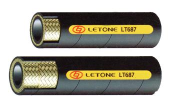 SAE 100R16紧凑型高压1和2层钢丝编织增强橡胶软管
